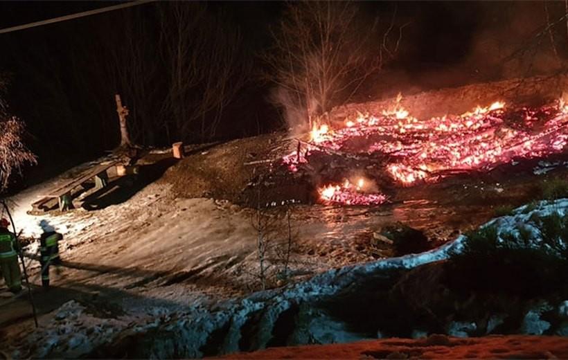 Domek, który służył turysom spłonął doszczętnie