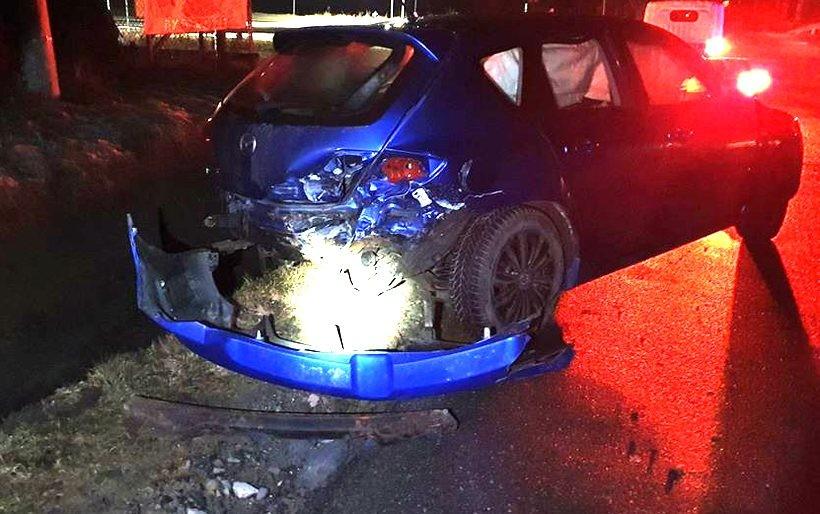 Wypadek na drodze w Mucharzu