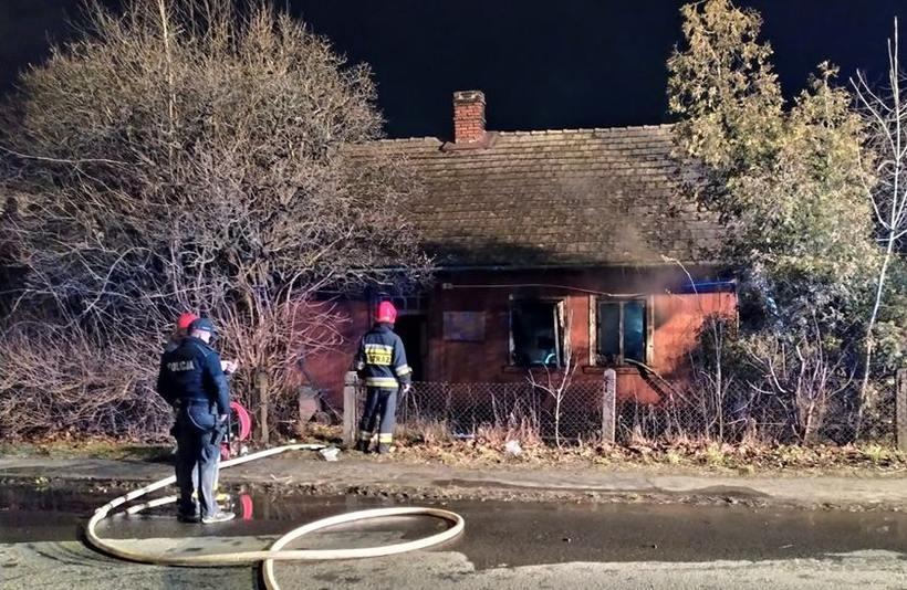 Pożar budynku w Andrychowie