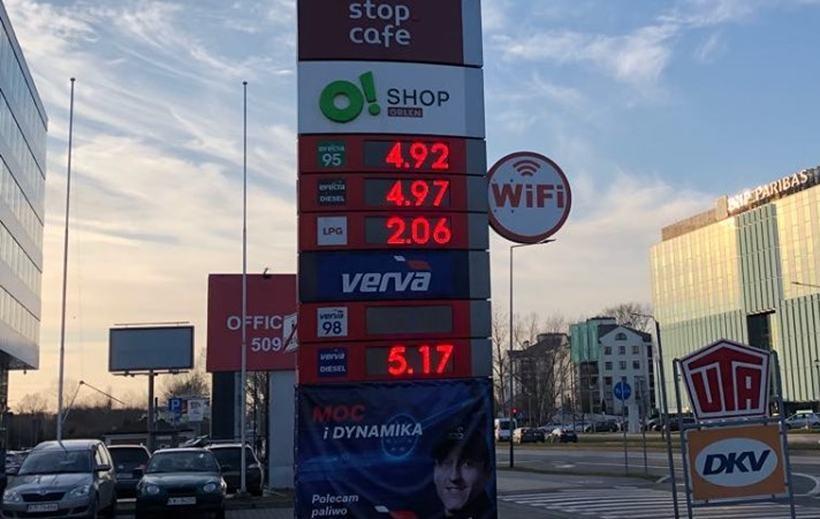 Ceny paliw w Krakowie z 10.03.2020r.