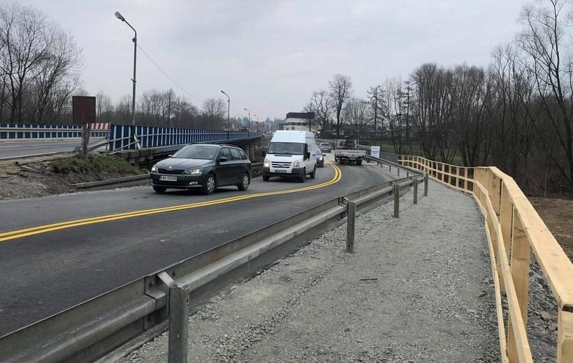W Wadowicach przez Skawę od dziś po nowym moście tymczasowym