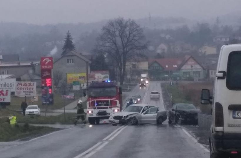 Wypadek w Kalwarii Zebrzydowskiej