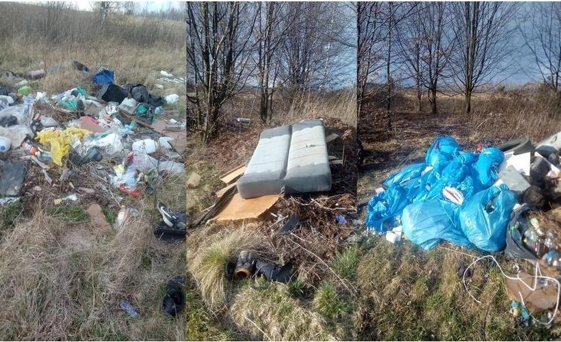Nielegalne wysypisko śmieci w Izdebniku