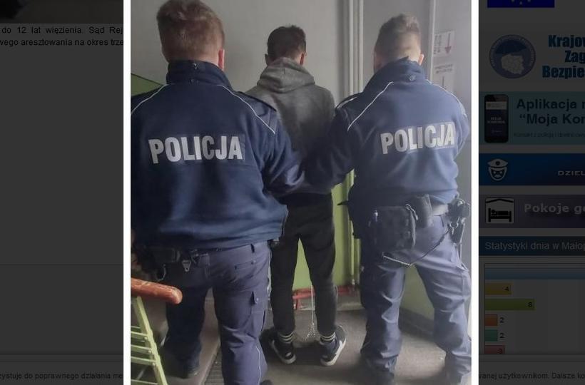 Policja zatrzymała bandytę