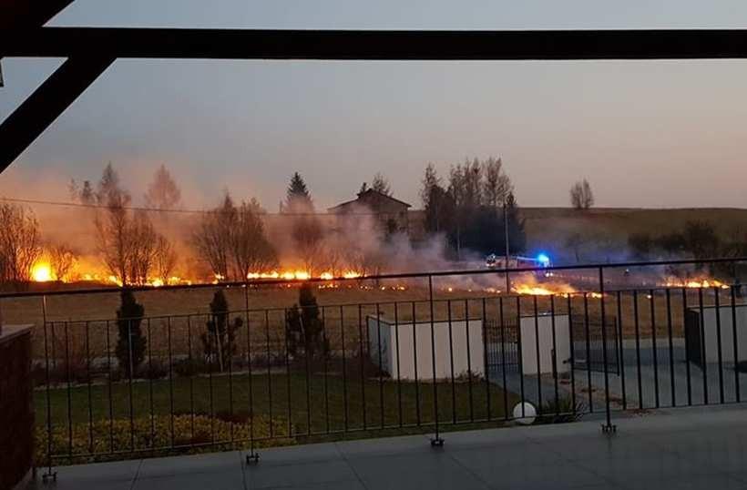 Pożar w Stryszowie