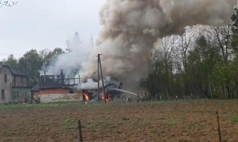Pożar budynku w Bulowicach
