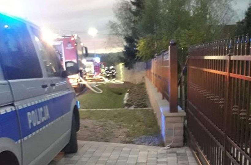 Mały pożar, duży dym. Kilka osób poszkodowanych w Witanowicach