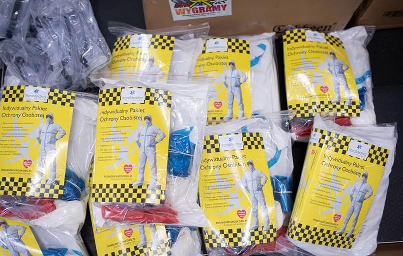Pakiety ochronne od WOŚP trafiły do wadowickiego szpitala