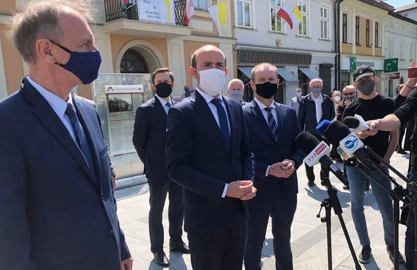 Politycy PO w Wadowicach
