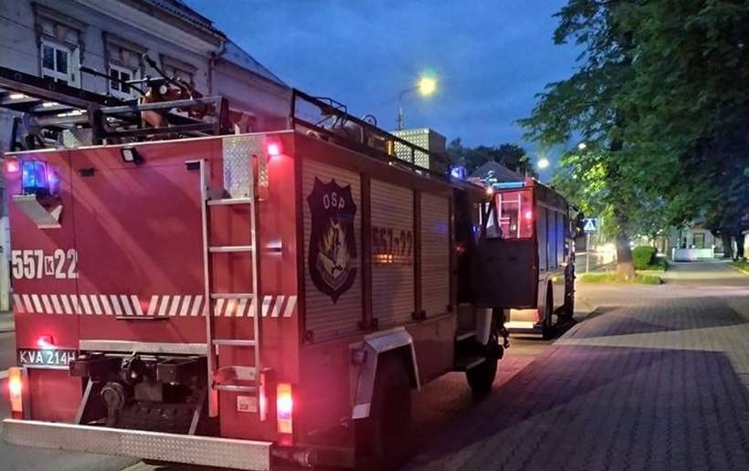 Strażacy interweniowali na poczcie w Andrychowie