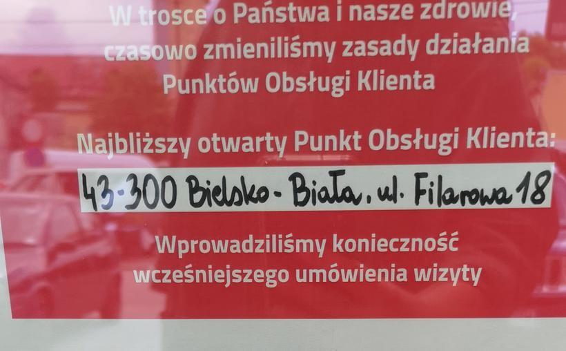 Jeśli ktoś woli bezpośrednie spotkanie musi pojechać do Bielska