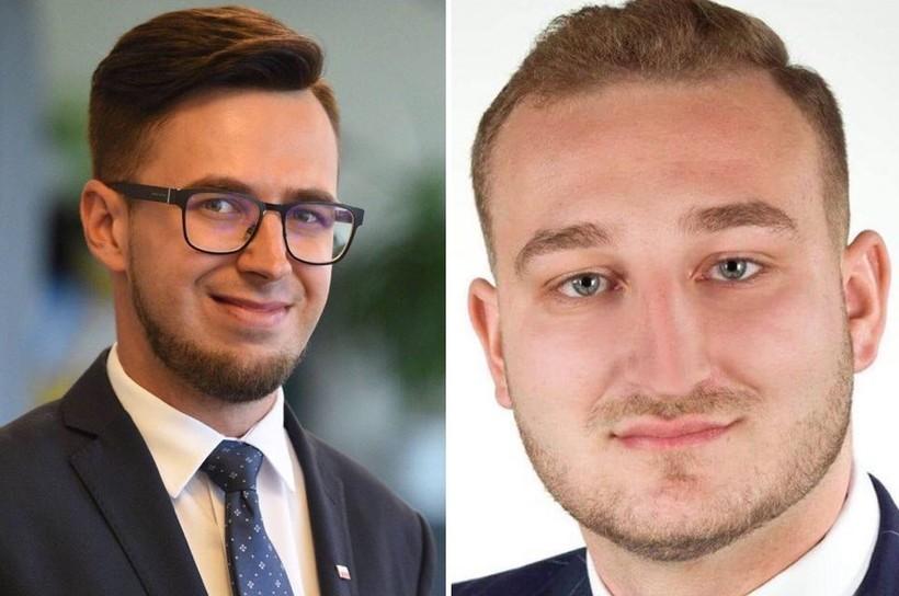 Poseł Filip Kaczyński i radny Sebastian Mlak