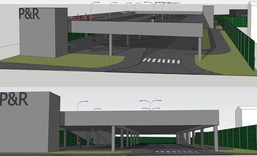 Wizualizacja dworca autobusowego w Wadowicach