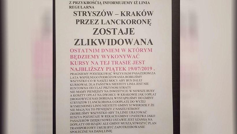 """Nie będzie połączeń """"busowych"""" na trasie Stryszów-Kraków. Marszałek stawia na kolej!"""