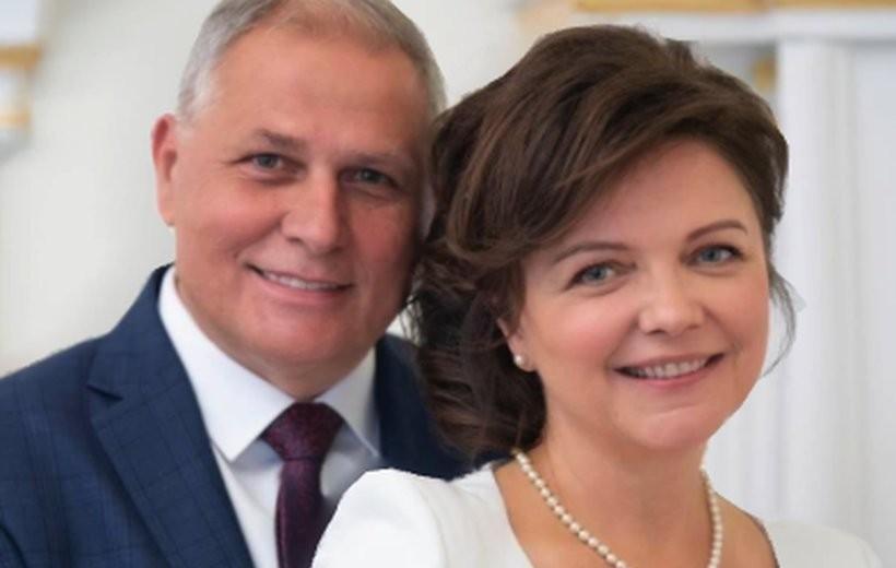 Tomasz Żak z żoną