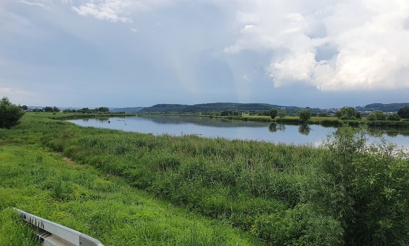 Niebezpieczna sytuacja na Wiśle w Spytkowicach. Flisacy musieli zrzucić drewno do rzeki