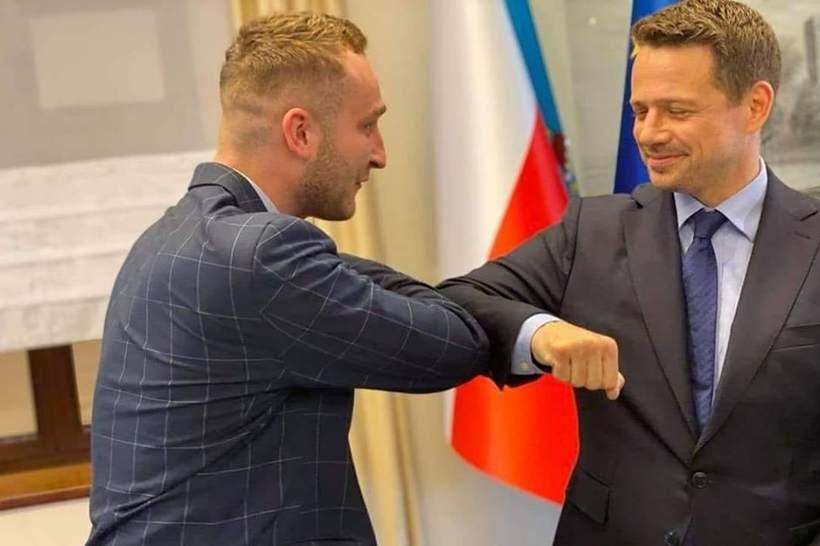 Sebastian Mlak i rafał Trzaskowski