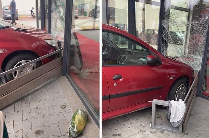Auto wjechało w sklep. Poszkodowana młoda klientka
