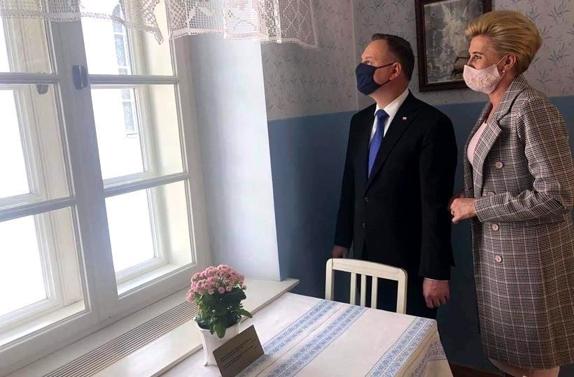 Andrzej Duda i Agata Duda - Kornhauser w Wadowicach
