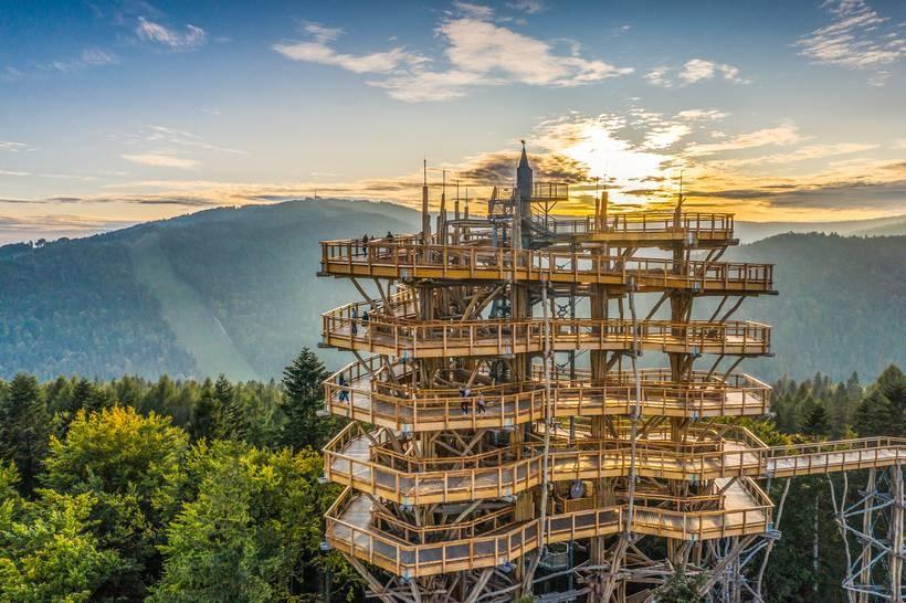 Słotwiny Arena – Wieża widokowa w Krynicy-Zdroju