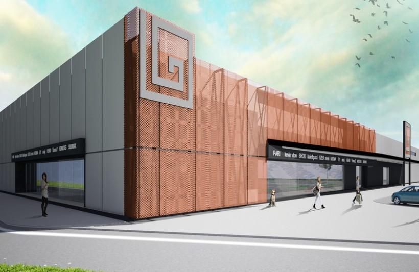 To wizualizacja galerii handlowej, która mogłaby powstać na terenach ruin po zakładzie Fumis Bumar