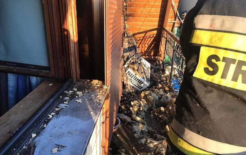 Od grilla na balkonie pożar poddasza. To nie miało się tak skończyć!