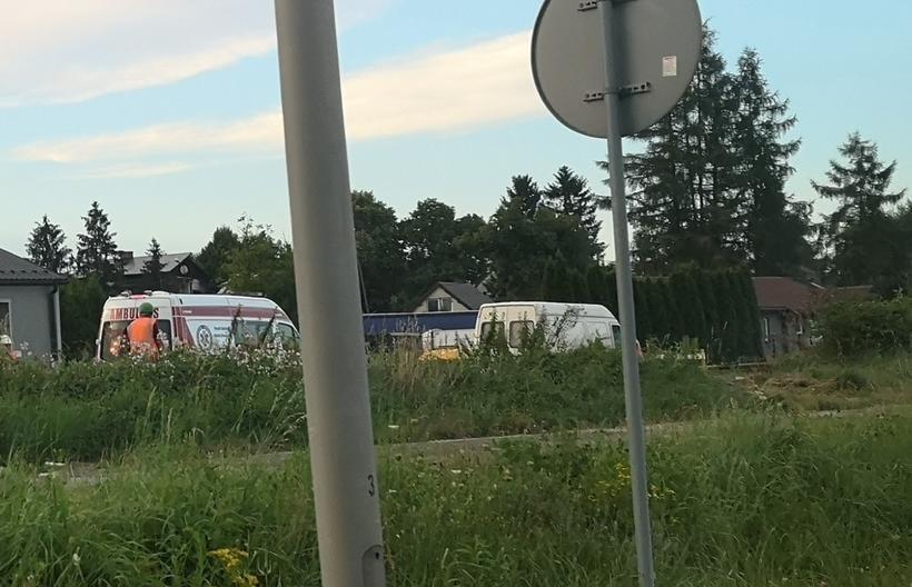 Na Łazówkę wezwano pogotowie ratunkowe. Policja jednak nie uczestniczyła w tej interwencji