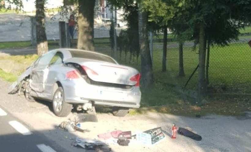 Wypadek w Sosnowicach