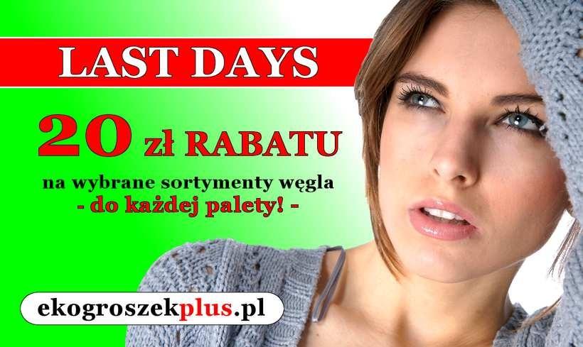Odliczamy dni promocji… do końca wakacji - LAST DAYS w e-sklepie ekogroszekplus.pl!