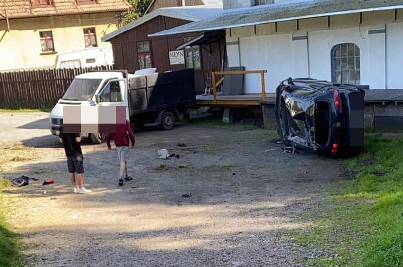 Wypadek w Kleczy
