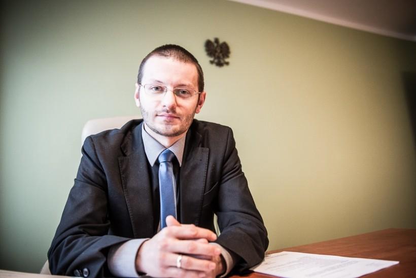 Starosta wadowicki Bartosz Kaliński