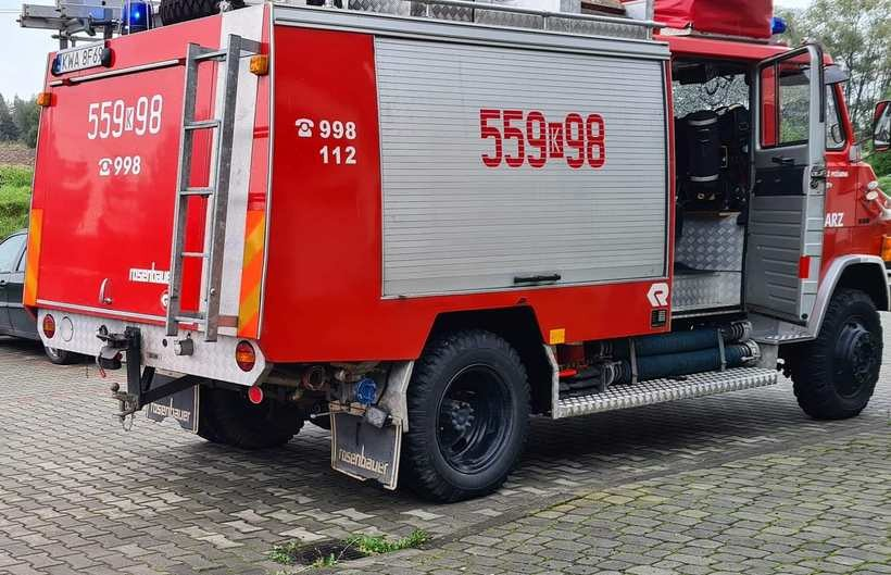 OSP Mucharz zabezpieczało miejsce zdarzenia