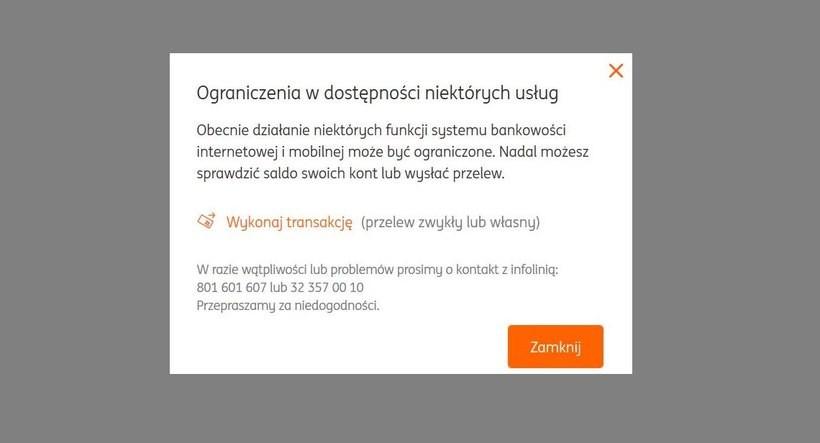 Poważna awaria w ING Bank Śląski? Klienci mają problem z dostępem do swoich kont