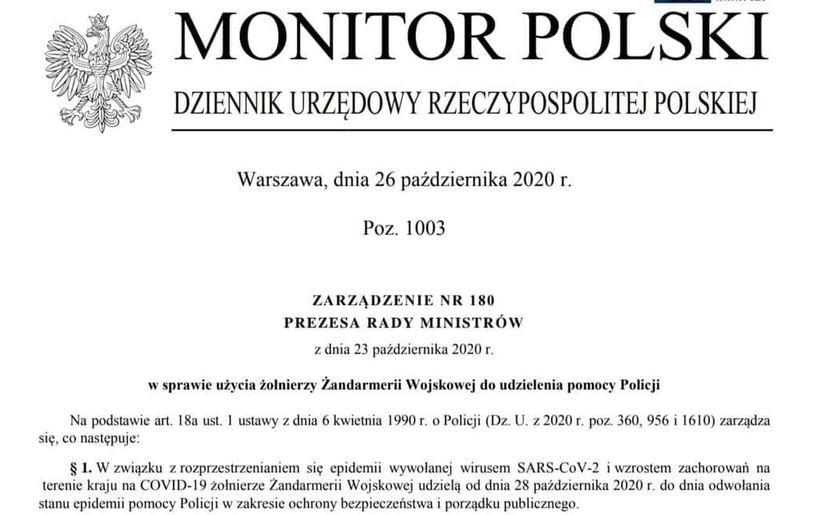 Najnowsze rozporządzenie premiera RP