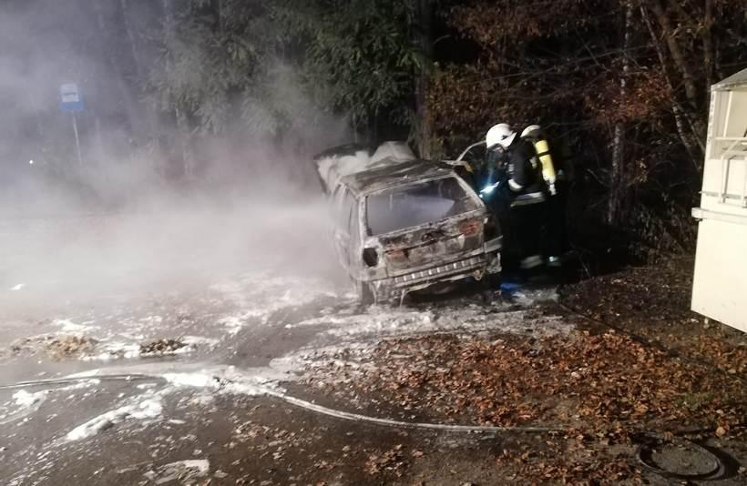 Pożar auta w Gierałtowiczkach. To mogło być podpalenie