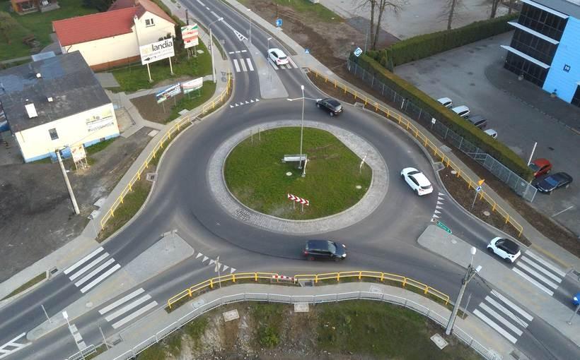 Rondo przy Wałowej i zjazd przy Wenecja zbudowane