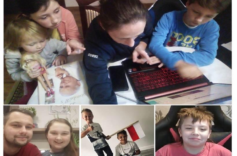 Dzieciaki brały udział w teście przez internet