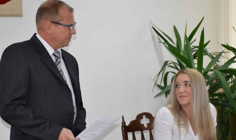 Mirosław Wójcik i Marta Czechowicz w Radzie Gminy w Mucharzu