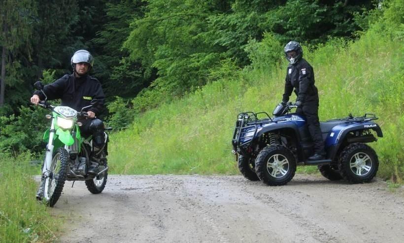 Policjanci od lat próbują przyłapać na gorącym uczynku motocyklistów w lasach