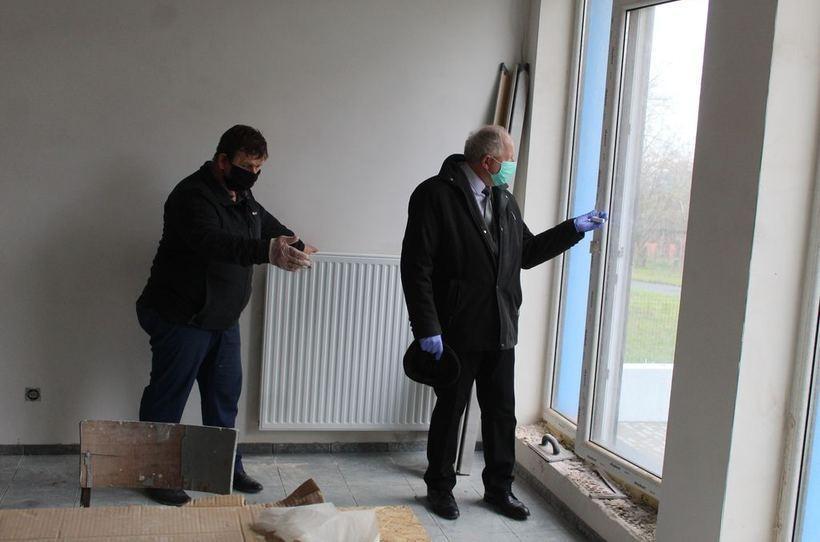 Burmistrz Augustyn Ormanty wizytował budowę
