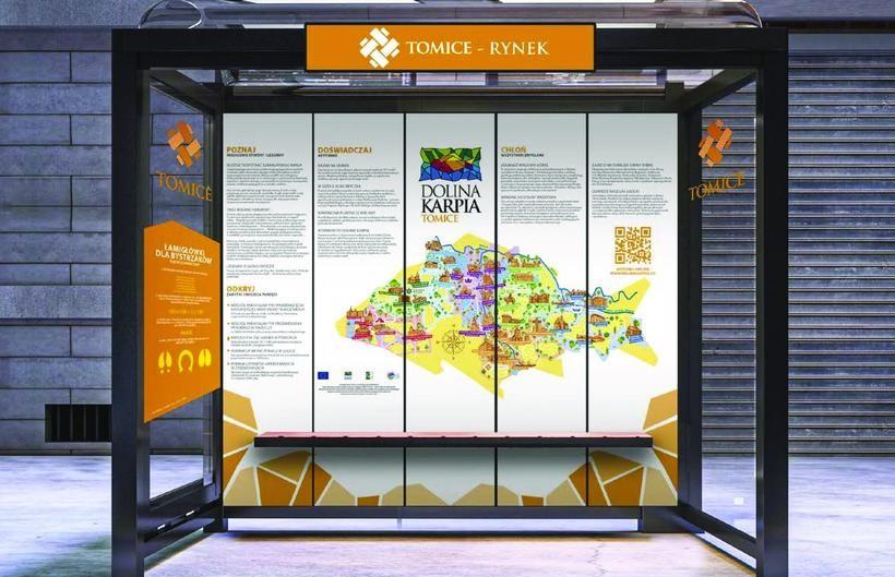 Wizualizacja przystanku w Tomicach