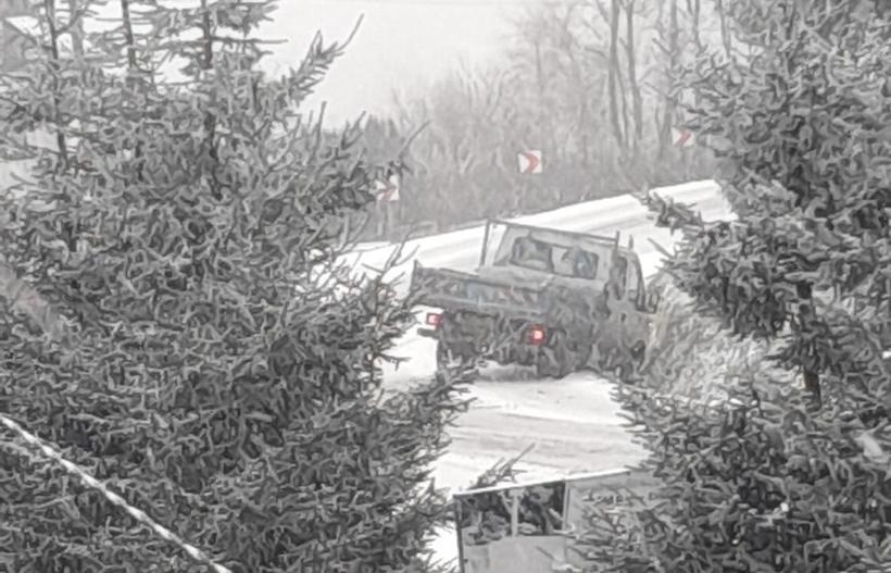 Auto wypadło z DK44