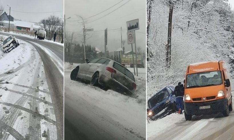 Kolizje samochodów zarejestrowane aparatami użytkownikó grupy Facebook/ Patrole, Wypadki, Suszarki