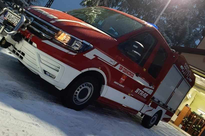 Wóz strażaków z Gierałowic