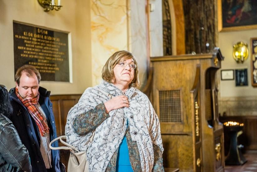 Anna Grodzka w bazylice Ofiarowania Najświętszej Maryi Panny