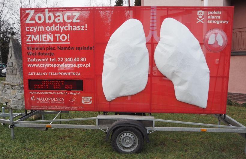 Wielkie płuca sprawdzą, czym oddycha się w Stryszowie. Zrobią się czarne?