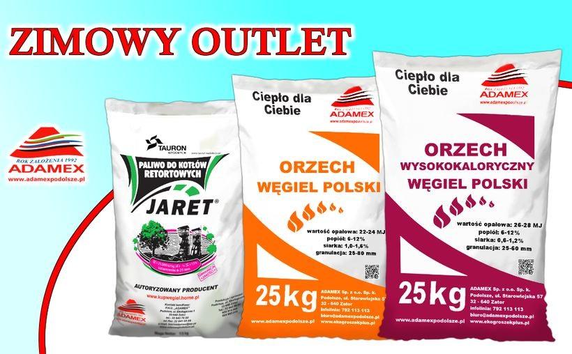 ZIMOWY OUTLET w firmie ADAMEX… węgiel workowany w promocyjnej cenie!