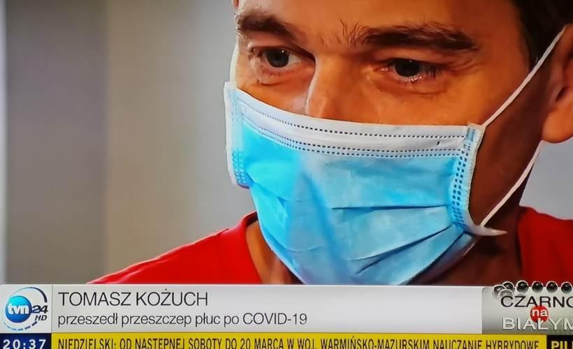 Covid-19 zabrał mu płuca, na szczęście dostał nowe. Strażak może liczyć na powrót do pracy?