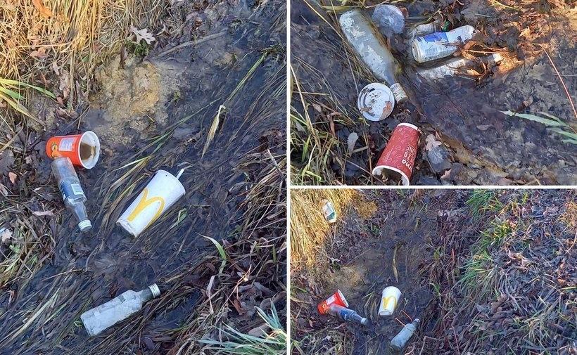 Rowy w Kleczy Dolnej wypchane śmieciami. Potrzebne nowe kary dla kierowców?