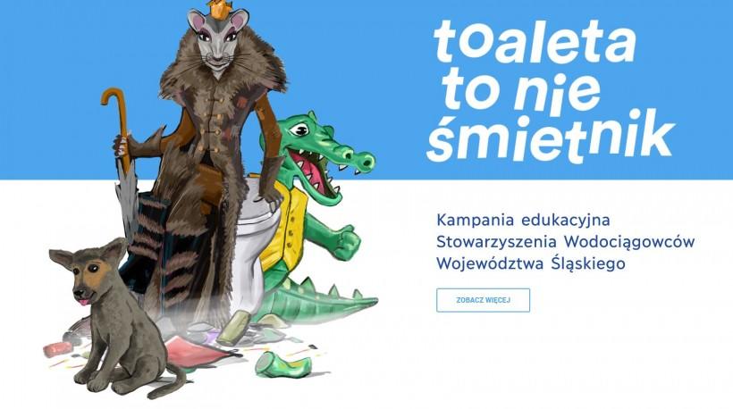 Toaleta to nie śmietnik - wadowickie wodociągi wspierają kampanię edukacyjną